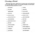 Choosing A Friend Checklist